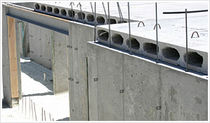 prestressed concrete hollow core deck slab SPAN DECK® Hanson structural porecast
