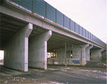 prestressed concrete U beam (for bridge)  Ronveaux Bâtiment