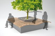 public bench with integrated planter QUADDY LAB23