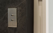 push-button light switch (nickel) INOX LINE - 70*120 - 2BP 6ixtes PARIS