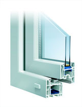 PVC double glazed casement window INNONOVA 70.M5 CLASSIC Trocal