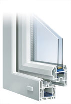PVC double glazed casement window INNONOVA70.M5 ELEGANCE Trocal