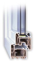 PVC double glazed casement window  Trocal