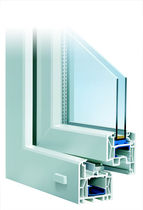PVC double glazed casement window INNONOVA_70.M5 CLASSIC Trocal