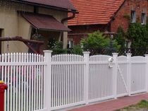PVC garden fence ARCH OVER FENCE NARROW PICKET Top Fence
