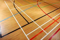 PVC sports floor for multipurpose gyms OMNISPORTS COMPACT FieldTurf Tarkett