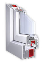 PVC triple glazed casement window 88 MM SYSTEMS Trocal