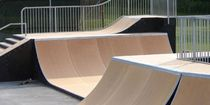 quarter pipe for skatepark STEALTH-07 World Skate Parks