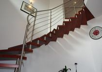 quarter-turn floating staircase (metal frame and wood steps) BBT 211 Schmidt Escaliers