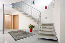 quarter-turn marble floating staircase GRA T302 Schmidt Escaliers