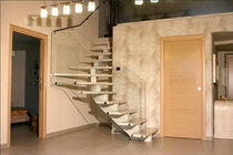 quarter-turn staircase with a central stringer (metal frame and wood steps) MARCO POLO G555 essegi scale