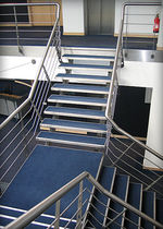 quarter-turn staircase with a lateral stringer for commercial buildings (metal frame and steps) WILLIAMS F1 elite metalcraft