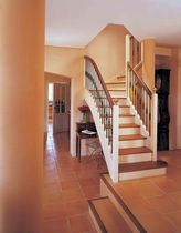 quarter-turn staircase with a lateral stringer (wooden frame and steps) ROUERGUE TRADI 3 ESCALIERS EBA