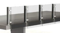 railing with glass panels TUB METAL: NEX 541200074 TRENZA METAL
