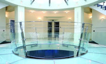 railing with glass panels  Zavar Company