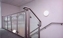 railing with glass panels KIDLINGTON Crescent Stairs