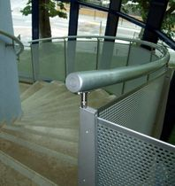 railing with perforated sheet MARCONI DISTRICT ALUSCALAE