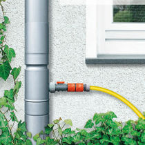 rainwater collector with a plug-in connector  RHEINZINK FRANCE SAS