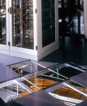 raised access floor panel in glass LUMEN Hyperline Systems Inc.
