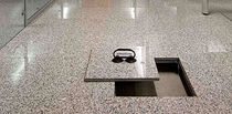 raised access floor panel in stone finish   Petral S.r.l