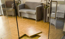 raised access floor panel in wood finish  Speedline Raised Access Flooring Systems