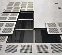 raised access floor panel in perforated aluminium PRODATA Hyperline Systems Inc.