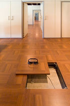 raised access floor - wood finish PARQUET Petral S.r.l