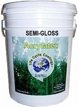 recycled decorative acrylic paint for interior and exterior (gloss) LIFE CYCLE™ SEMI-GLOSS RECYCLED PAINT COLORS ACRY LATEX