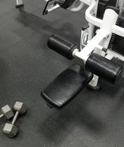 recycled rubber floor tile for fitness areas (FloorScore® certified, low VOC emissions) TUFLEX®  Roppe Corporation