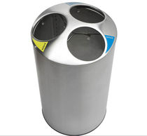 recycling bin for waste separation for public spaces PSX1 Simex