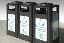 recycling bin for waste separation for public spaces SQUARE Calzolari