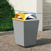 recycling bin for waste separation for public spaces ECOMIX by Raffaele Lazzari METALCO