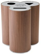 recycling bin for waste separation for public spaces TRIO KINNARPS