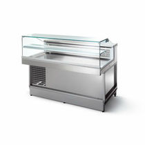 refrigerated and dry counter display case LOW STRAIGHT GLAZING STILTEK