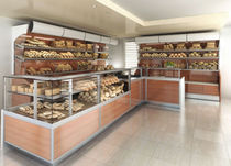 refrigerated bakery counter display case DOMINA 5 CustomCool / SIFA