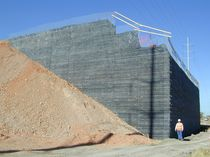 Reinforced Earth retaining wall TERRATREL&reg; Reinforced Earth Company