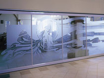 removable acoustic glass partition GL Hufcor