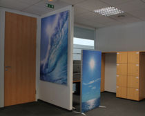 removable acoustic partition (sound absorbtion) &Eacute;CRAN ACOUSTISSIMO&reg; CAT-AL SUR PIED DECIBEL FRANCE
