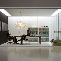 removable frameless glass partition NODUX® by Dhemen design Movinord