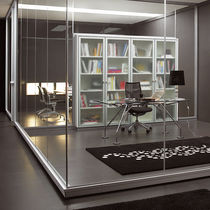 removable frameless glass partition CRYSTAL Movinord