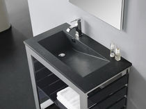 resin built-in washbasin TECNO PIZARRA The Bath Collection