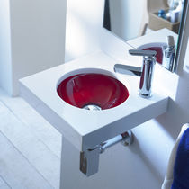 resin wall-hung washbasin UNE 01 The Bath Collection