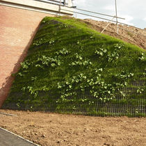 retaining wall on reinforced soil TENSARTECH GREENSLOPE® Tensar International