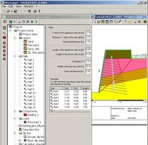 retaining walls calculation software WINNAGEL IDAT