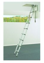 retractable aluminium attic ladder TELESCOPICA T-240 IDEALKIT