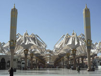 retractable tensile structure MEDINA HARAM PIAZZA SHADING UMBRELLAS Premier Composite Technologies
