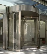 revolving automatic door for commercial buildings  Turnstar Systems