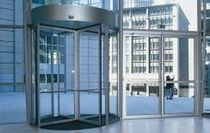 revolving automatic door for commercial buildings  Glass Expert GmbH