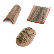 ridge end roof tile in clay INVECCHIATA COTTO PRATIGLIOLMI