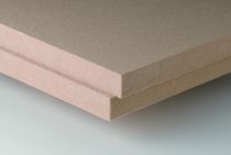 rigid natural insulated roof panel in wood fiberboard THERMOFLAT Ecological Building Systems 